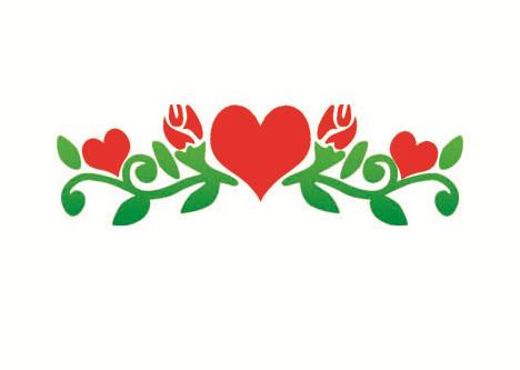 Nep tattoo voorbeeld Bloemen & Hartjes. Bloemen & Hartjes