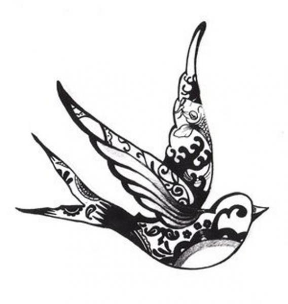 tribal pinterest bird tattoo 4 tattoo Nep voorbeeld Zwaluw