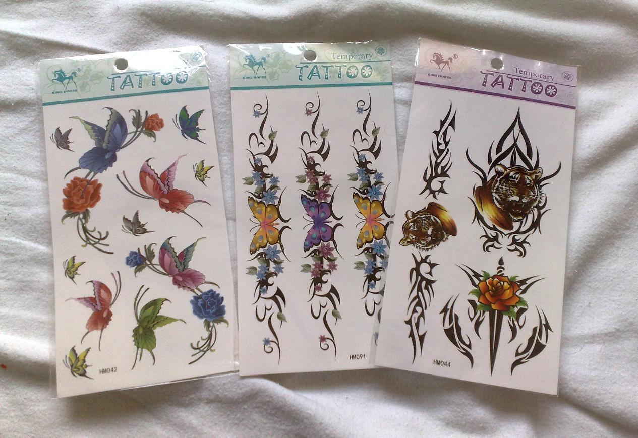 Voorbeelden verpakking van tattoo per stuk