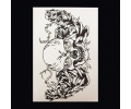 XL Tattoos Boosaardig zwart/wit tattoo voorbeeld Boosaardig 055