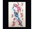 XL Tattoos bloemen kleur tattoo voorbeeld Bloemen 076 Lotussen Rood met Wit