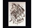 XL Tattoos Dieren zwart/wit tattoo voorbeeld Dieren 098 Twee Koi Karpers grijstinten