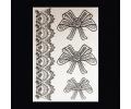 XL Tattoos Zwartwit tattoo voorbeeld Symbolen 099 Lace en Strikken