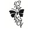 Dieren tattoo voorbeeld Vlinder tribal 2