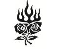 Roos tattoo voorbeeld Roos tribal 4