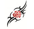 Roos tattoo voorbeeld Roos tribal 3