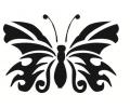 Dieren tattoo voorbeeld Vlinder 2