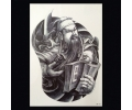 XL Tattoos Zwartwit tattoo voorbeeld Symbolen 101 Samoerai met Boek