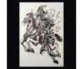 XL Tattoos Zwartwit tattoo voorbeeld Boosaardig 102 Samoerai te Paard