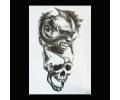 XL Tattoos Zwartwit tattoo voorbeeld Boosaardig 106 Demon en Skull