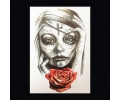 XL Tattoos Kleur tattoo voorbeeld Vrouw 107 Day of the Dead Roos