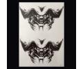 XL Tattoos Zwartwit tattoo voorbeeld Boosaardig 111 Twee Demonen