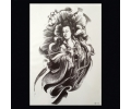 XL Tattoos Zwartwit tattoo voorbeeld Vrouw 114 Geisha