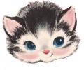 Overige dieren tattoo voorbeeld Vintage kattekopje