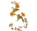 Bloemen tattoo voorbeeld Gele bloemen