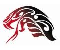 Roofdieren tattoo voorbeeld Tribal 17-47