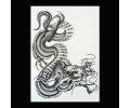 XL Tattoos Zwartwit tattoo voorbeeld Boosaardig 227