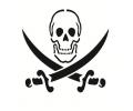 Skulls Zwartwit tattoo voorbeeld Piraten