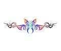 Tribals tattoo voorbeeld Vlinder-tribal 5-2