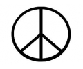 Peace tattoo voorbeeld Peace