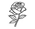 Bloemen tattoo voorbeeld Roos zwart-wit