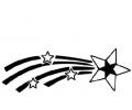Overige tattoo voorbeeld Vallende Ster