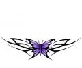 Tribals tattoo voorbeeld Vlinder