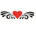 Hartjes tattoo voorbeeld Hartje tribal 2