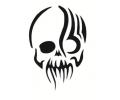Skulls Zwartwit tattoo voorbeeld Doodshoofd