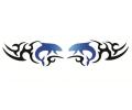 Overige dieren tattoo voorbeeld Tribal dolfijnen