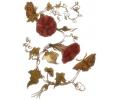 Coralie tattoo voorbeeld Rode bloemen
