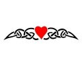 Hartjes tattoo voorbeeld Tribal hartje plak