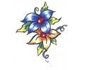 Bloemen tattoo voorbeeld Bloemen 3