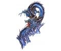 Draken tattoo voorbeeld Blue Dragon 2