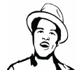 Muziek tattoo voorbeeld Bruno Mars 1