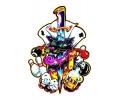 Evil Clowns tattoo voorbeeld Casino
