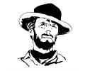 Hollywood tattoo voorbeeld Clint Eastwood 2