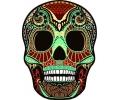 Day of the Dead Skulls tattoo voorbeeld Day of the Dead Skull