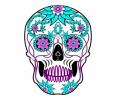 Day of the Dead Skulls tattoo voorbeeld Day of the Dead Skull 9