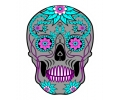 Day of the Dead Skulls tattoo voorbeeld Day of the Dead Skull 16