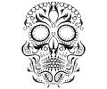 Day of the Dead Skulls tattoo voorbeeld Day of the Dead Skull 3