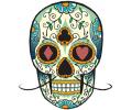 Day of the Dead Skulls tattoo voorbeeld Day of the Dead Skull 33
