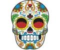 Day of the Dead Skulls tattoo voorbeeld Day of the Dead Skull 35