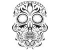 Day of the Dead Skulls tattoo voorbeeld Day of the Dead Skull 6
