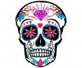 Nieuw!!! Plaktattoos tattoo voorbeeld Day of the Dead skull 8