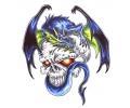 Draken tattoo voorbeeld Draak Skull