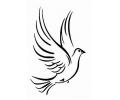 Peace tattoo voorbeeld Duif