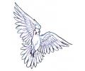 Duiven tattoo voorbeeld Duif 2
