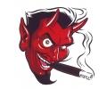 Boosaardige Tattoos tattoo voorbeeld Duivel Sigaret