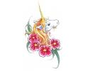 Eenhoorns tattoo voorbeeld Eenhoorn met bloemen